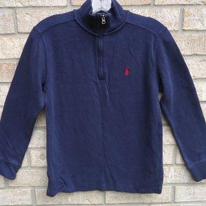 M(10-12).Boy's Polo Ralph Lauren Half Zip Sweater